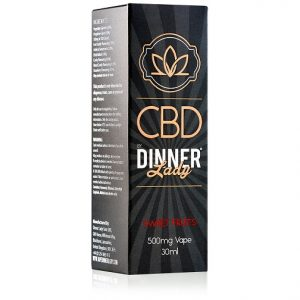 Dinner Lady CBD Sweet Fruits Vape Liquid 30mL