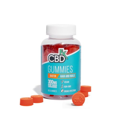 CBDfx Broad Spectrum CBD Gummies with Biotin for Hair and Nails 300mg