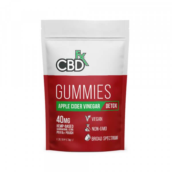 CBDfx Broad Spectrum CBD Gummies with Apple Cider Vinegar 40mg