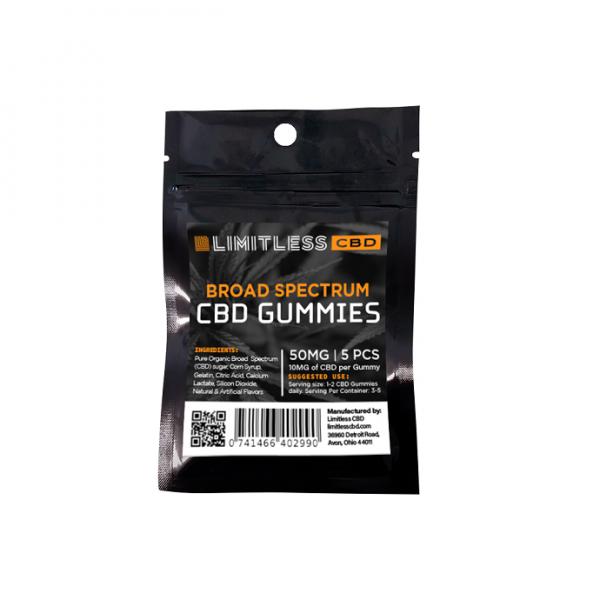 Limitless CBD Infused Gummies 50mg