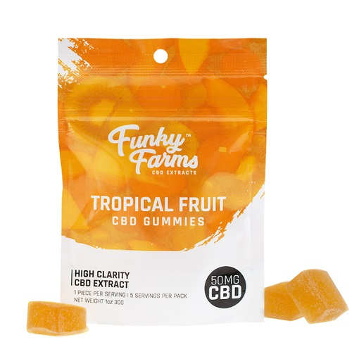 Funky Farms Tropical Fruit CBD Gummies 50MG