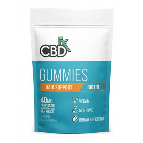 CBDfx Broad Spectrum CBD Gummies with Biotin for Hair and Nails 40mg