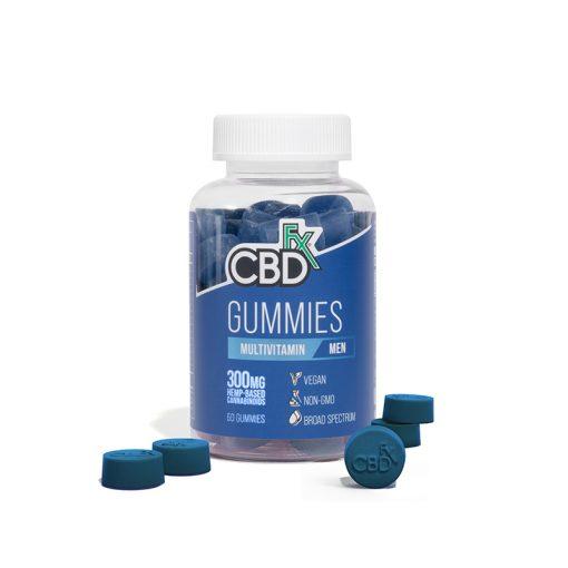 CBDfx Broad Spectrum CBD Gummies multivitamin for Men 300mg