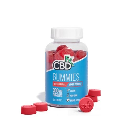 CBDfx Broad Spectrum CBD Gummies Mixed Berries