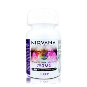 Nirvana Sleep CBD Gel Capsules-750mg
