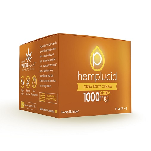 Hemplucid Full Spectrum CBDA Body Cream 1000mg