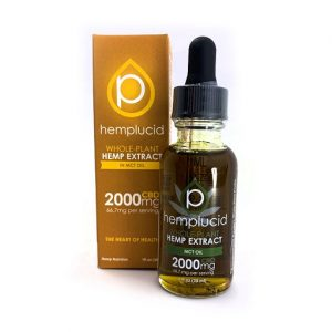 Hemplucid Full Spectrum CBD Extract in MCT Oil Tincture 2000mg