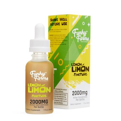 Funky Farms CBD Lemon Limon Tincture 2000mg
