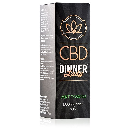 Dinner Lady CBD Mint Tobacco Vape Liquid 1000mg