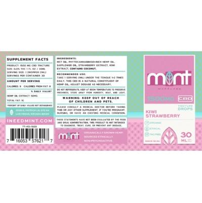 Mint wellness CBD Kiwi Strawberry Tincture 30ml