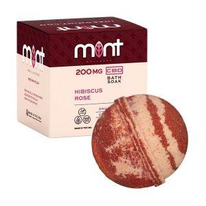 Mint wellness CBD Bath Soak Hibiscus rose 200mg