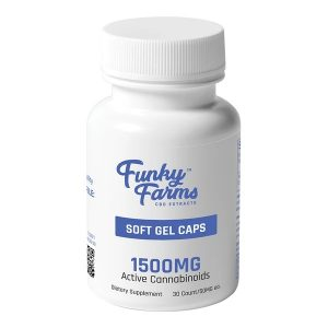 Funky Farms Full Spectrum CBD Soft Gel Capsules 1500mg