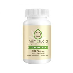 Hemplucid Full Spectrum CBD Soft-Gel Capsules 75mg