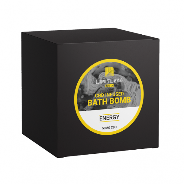 Limitless CBD infused Bath Bomb Energy 50mg
