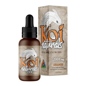Koi Naturals Orange Full Spectrum Hemp Extract CBD Oil Tincture 2000mg