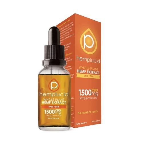 Hemplucid Full Spectrum CBD Extract in Vape/Drip Oil 1500mg