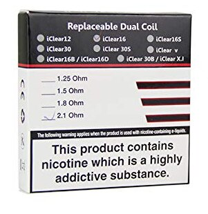Innokin iClear16 Dual Coil Replacement Coil - 5PK