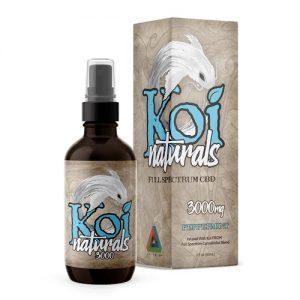 Koi Naturals Peppermint Full Spectrum Hemp Extract CBD Oil Tincture 3000mg