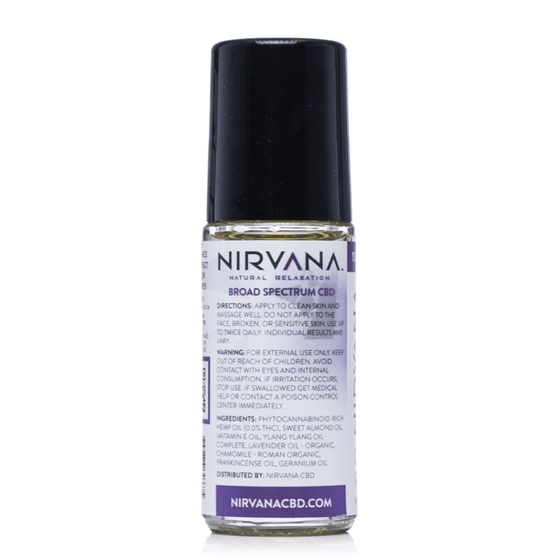 Nirvana Broad Spectrum CBD Oil Roll-On