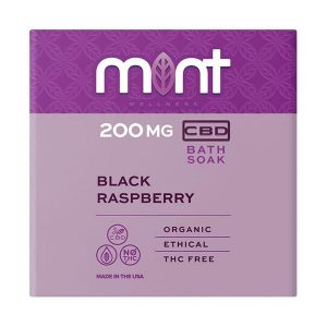 Mint wellness CBD Bath Soak Black Raspberry 200mg