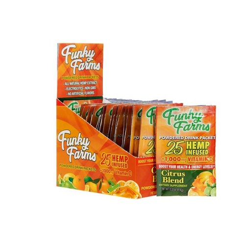 Funky Farms CBD Extracts Citrus Blend Powdered Drink Packet 25MG