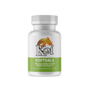 Koi Broad Spectrum Hemp Extract CBD Regular Softgels
